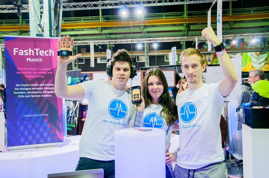 Fashion wearable music controller at Fashtech Munich