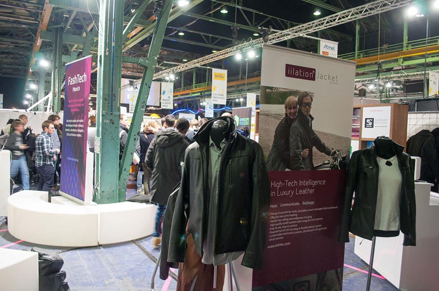 teiimo smart textile engineering, luxury wearable fashion technologie at FashTech exhibition